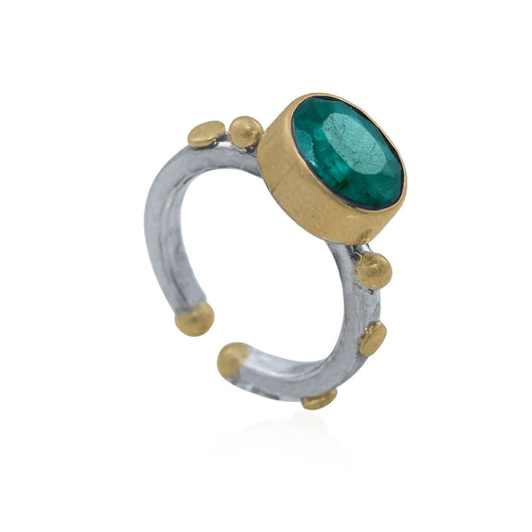 fake-it-oval-cut-emerald-adjustable-silver-ring
