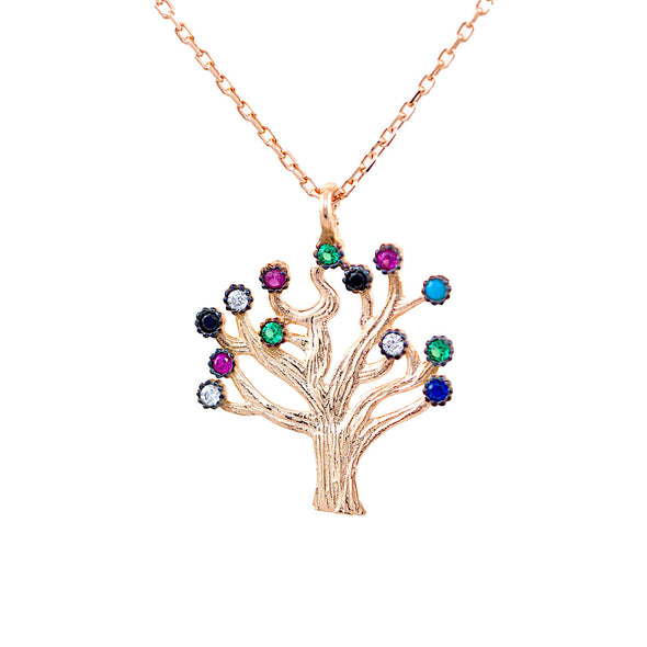 flowering-cherry-tree-rose-gold-plated-silver-necklace