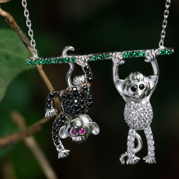 hang-in-there-bff-monkeys-silver-necklace-2