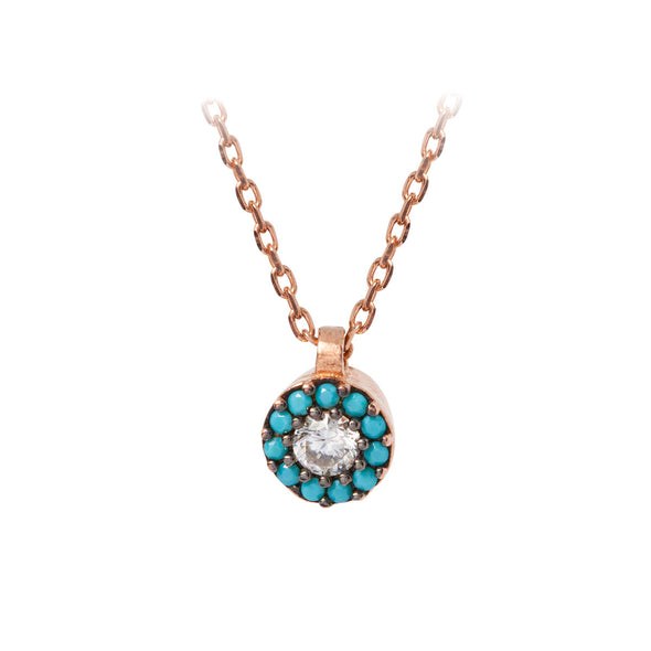 heal-my-soul-turquoise-halo-rose-gold-plated-silver-necklace