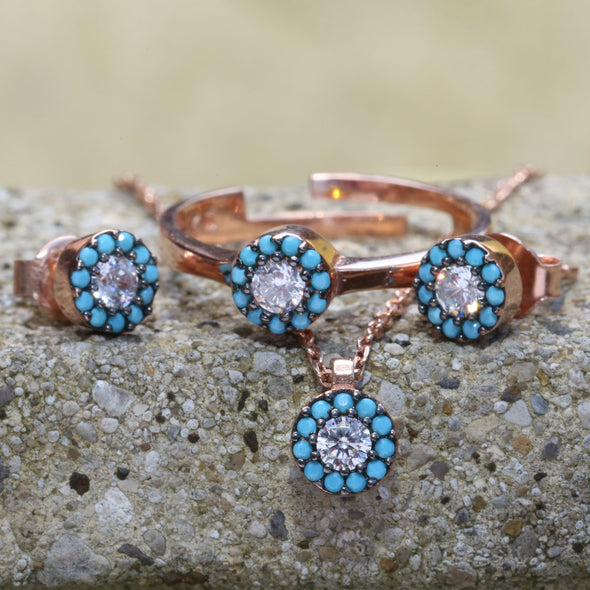 heal-my-soul-turquoise-halo-rose-gold-plated-silver-necklace-2