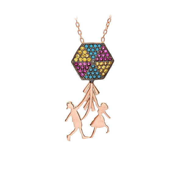 hold-on-tight-sweetheart-yellow-kite-rose-gold-plated-silver-necklace
