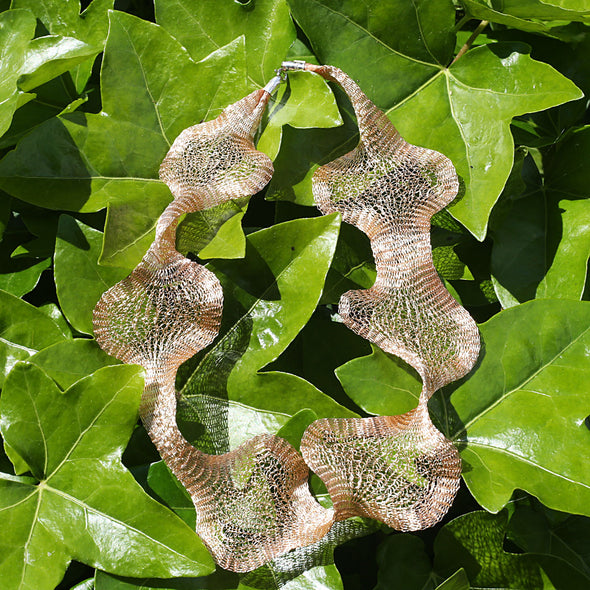 Shape Shifter Titanium Mesh Copper Colour Mouldable Necklace