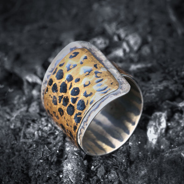 snake-skin-effect-oxidised-silver-and-bronze-adjustable-ring-3