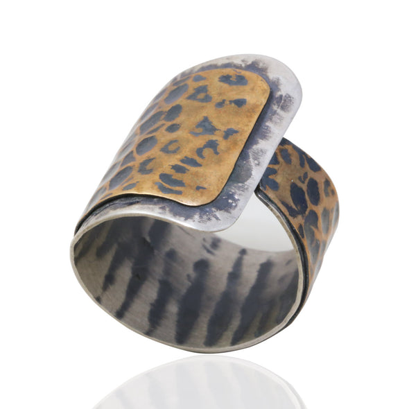 snake-skin-effect-oxidised-silver-and-bronze-adjustable-ring