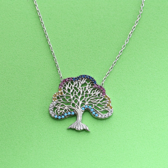 spreading-kindness-tree-silver-necklace-2