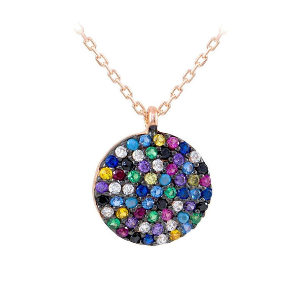 the-full-big-circle-rainbow-rose-gold-plated-silver-necklace