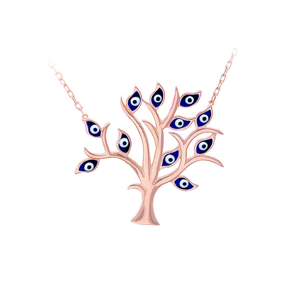 all-blue-eyes-on-me-rose-gold-plated-silver-necklace