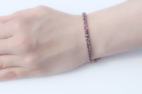 garden-of-rainbow-flowers-rose-gold-plated-silver-bracelet-1