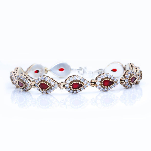 go-ahead-ruby-red-pear-shaped-silver-bracelet-2