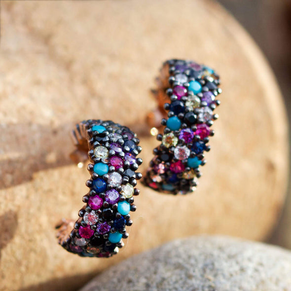 jump-over-the-rainbow-rose-gold-plated-silver-hoop-earrings-2