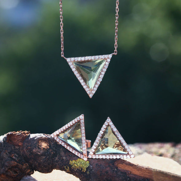refreshing-mint-triangle-rose-gold-plated-silver-earrings-mood-indicators-2