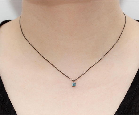turquoise-square-earrings-necklace-rose-gold-plated-silver-set-1