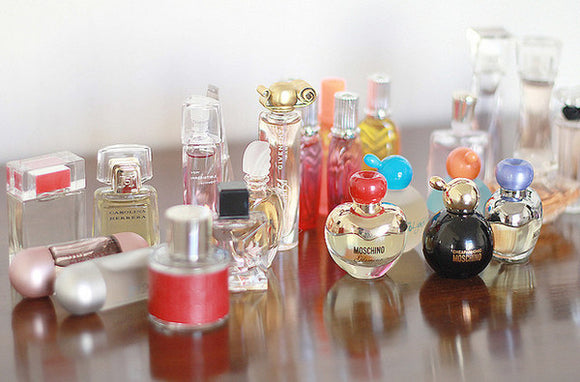 miniture fragrances and cosmetics