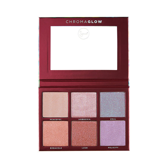 Sigma Chroma Glow Shimmer + Highlight Palette - PALETTE Fragrances & Cosmetics