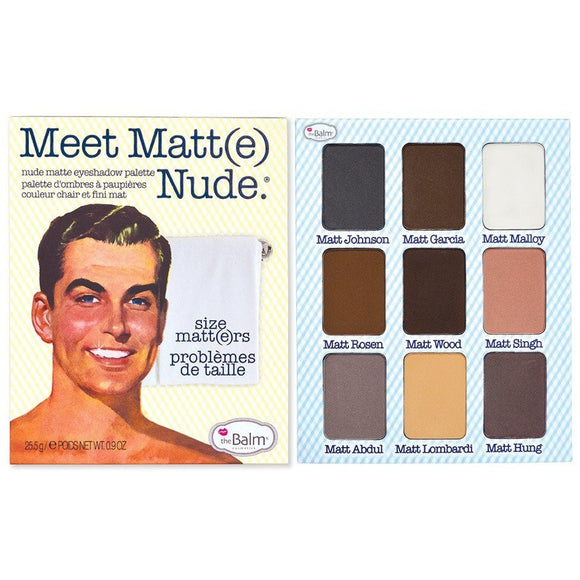 The Balm Meet Matt(e) Nude Eyeshadow Palette - PALETTE Fragrances & Cosmetics