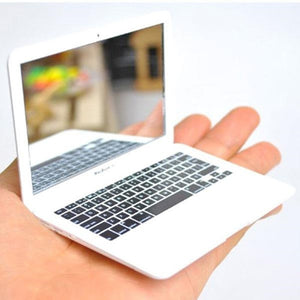 Cute MAKEUP Mini Pocket Laptop Style Clear Glass Women Cosmetic Beauty Mirror Fashion Notebook Form