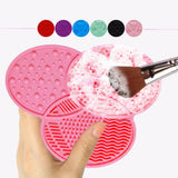 Compact Makeup Brush Cleaner Silicone Clover Shaped Design Cleaning Brush Deep Cleaning Pad Makeup Cosmetic Brush Cleansing Pad