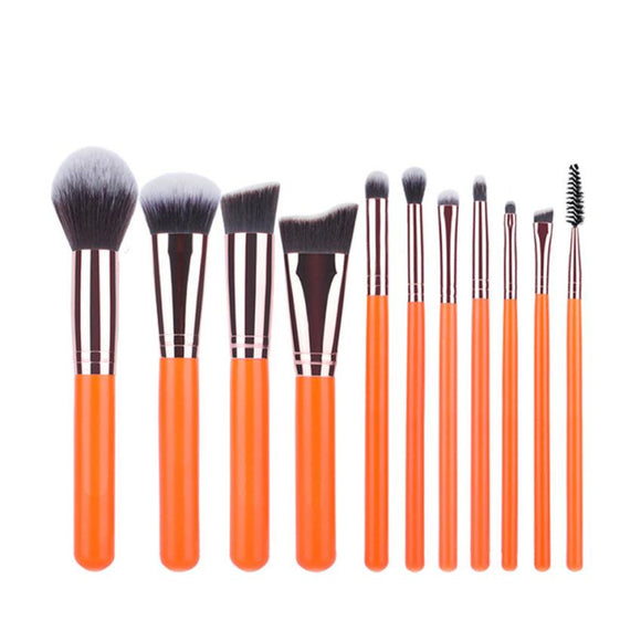 11PCS Makeup Brushes Set Foundation Eyebrow Eyeliner Blush Cosmetic Concealer Brushes Professional Makeup Brushes kit maquiagem - PALETTE Fragrances & Cosmetics