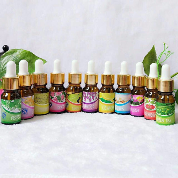 Brand New Water-soluble Oil Essential Oils(10 ml) for Aromatherapy Lavender Oil Humidifier Oil with 12 Kinds of Fragrance Jasmine - PALETTE Fragrances & Cosmetics