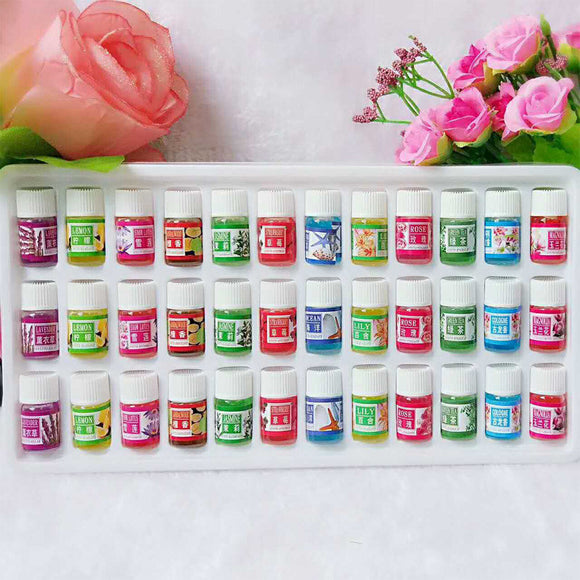 Brand New Water-soluble Oil Essential Oils(3 ml) for Aromatherapy Oil Humidifier Oil with 12 Kinds of Fragrance 36 Bottle Set - PALETTE Fragrances & Cosmetics