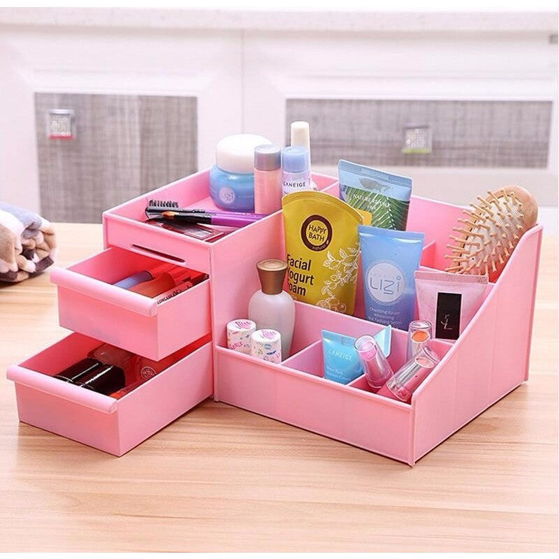 ... Makeup Organizer Storage Display With Drawers Cosmetic Organizer Cases  And Box ...