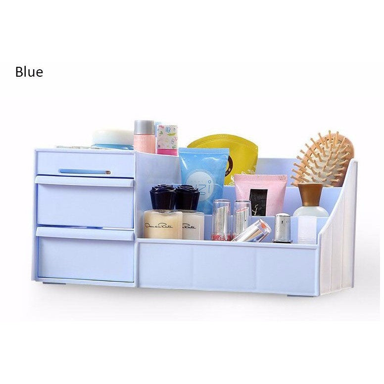 ... Makeup Organizer Storage Display With Drawers Cosmetic Organizer Cases  And Box