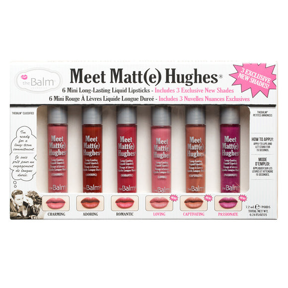 theBalm Meet Matt(e) Hugues Lipstick Mini Set - PALETTE Fragrances & Cosmetics