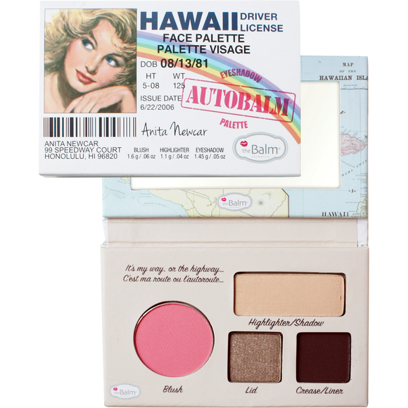 the Balm Cosmetics Autobalm Hawaii Face Palette - PALETTE Fragrances & Cosmetics