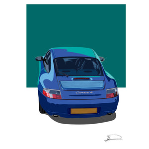 Porsche 996 customised artwork Giclée printed