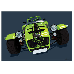 Caterham 7 customised artwork Giclée printed