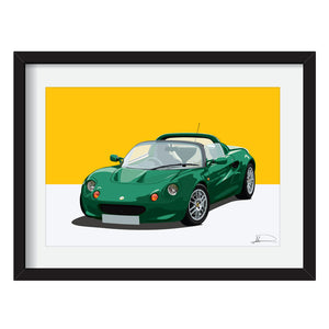 Lotus Elise S1 customised artwork Giclée printed