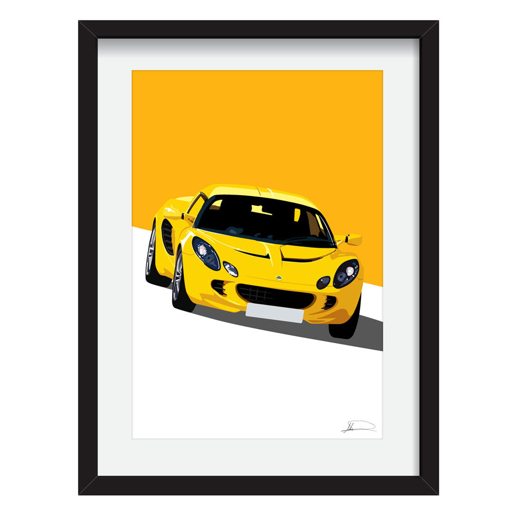 Lotus Elise S2 (Front) customised artwork Giclée printed
