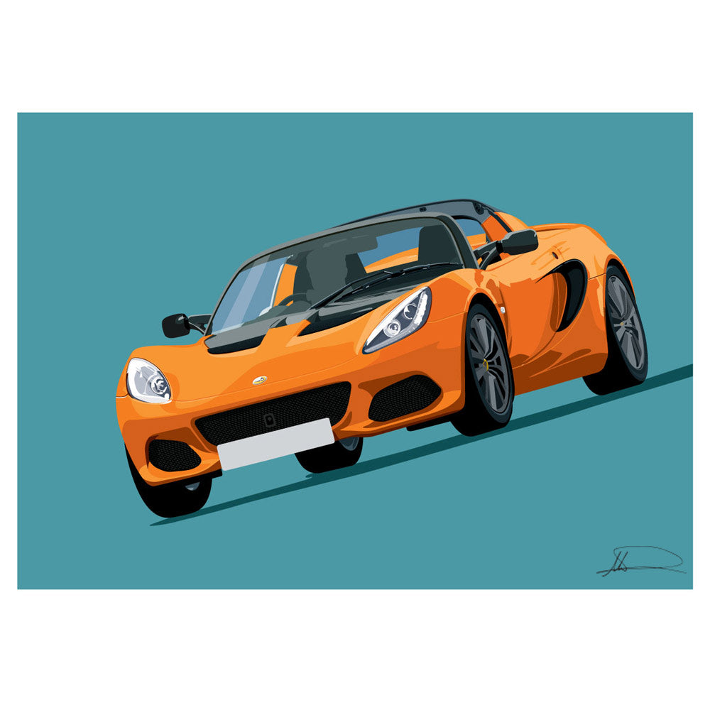 Lotus Elise S3.5 (Front) customised artwork Giclée printed