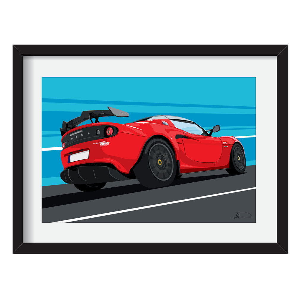 Lotus Elise S3/3.5 Cup (Rear) customised artwork Giclée printed