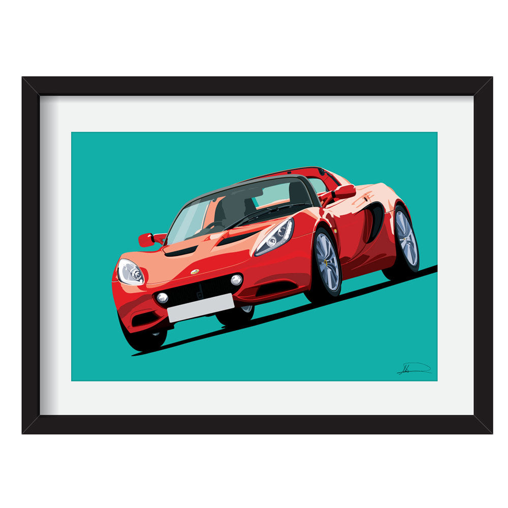 Lotus Elise S3 (Front) customised artwork Giclée printed