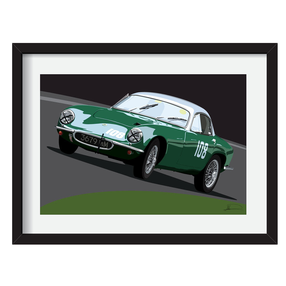 Lotus Elite (Front) customised artwork Giclée printed