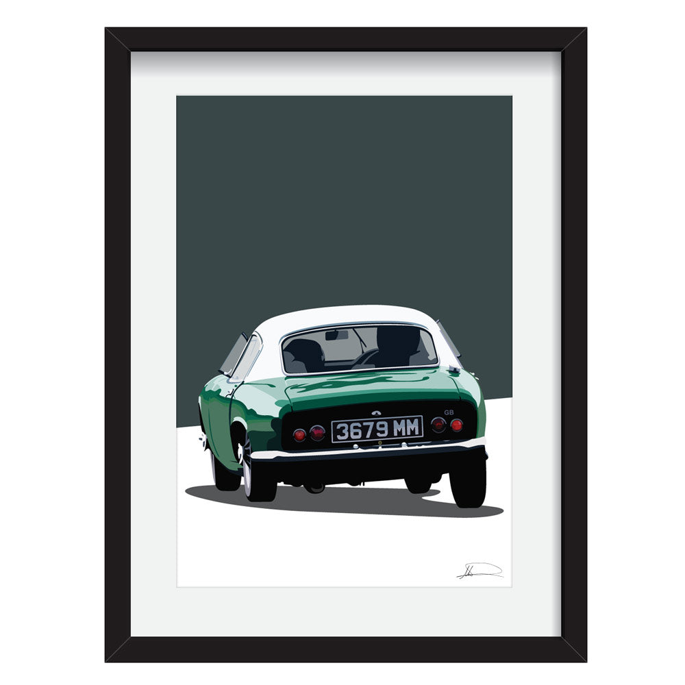 Lotus Elite (Rear) customised artwork Giclée printed