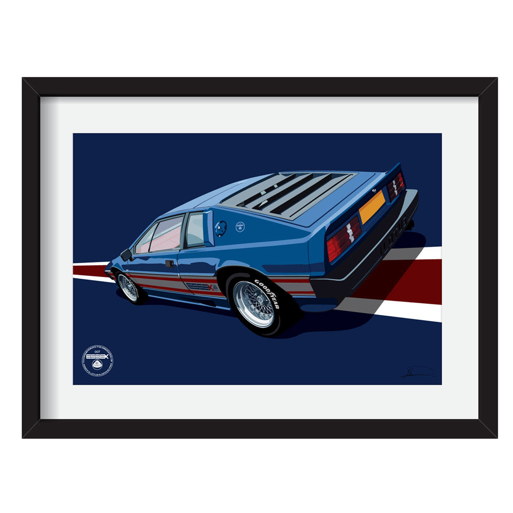 Lotus Esprit S3 Essex Blue Limited Edition Artwork