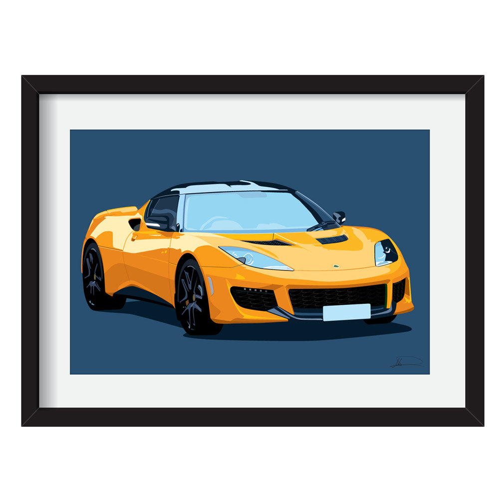 Lotus Evora 400 customised artwork Giclée printed