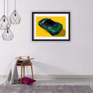 Lotus Evora/Evora S (rear) customised artwork Giclée printed