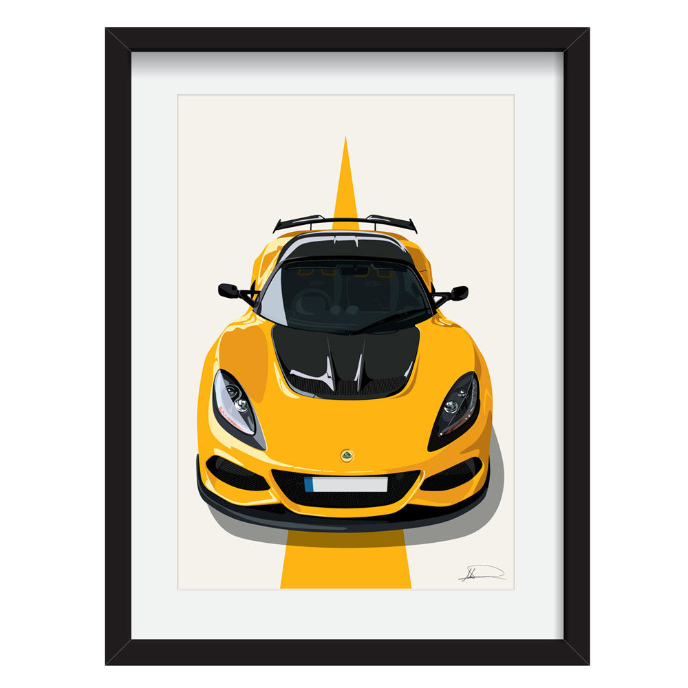 Lotus Exige 410 customised artwork Giclée printed
