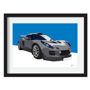 Lotus Exige S2.5 customised artwork Giclée printed
