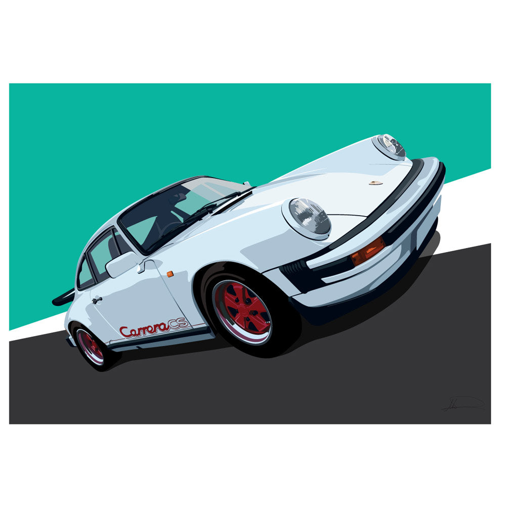 Porsche Carrera CS customised artwork Giclée printed