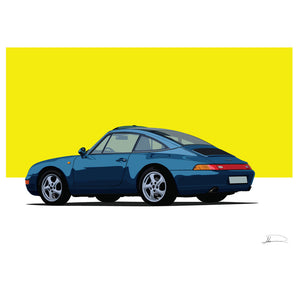 Porsche Targa customised artwork Giclée printed