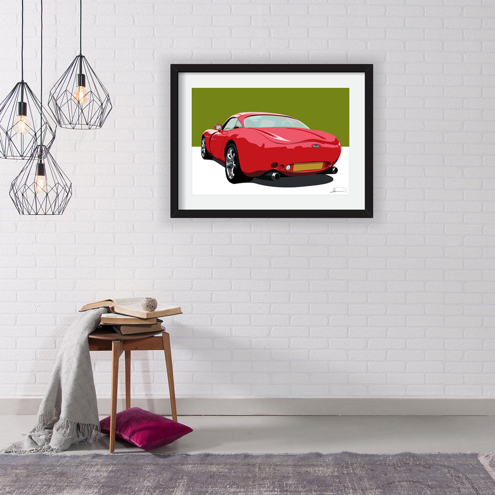 TVR Tuscan customised artwork Giclée printed