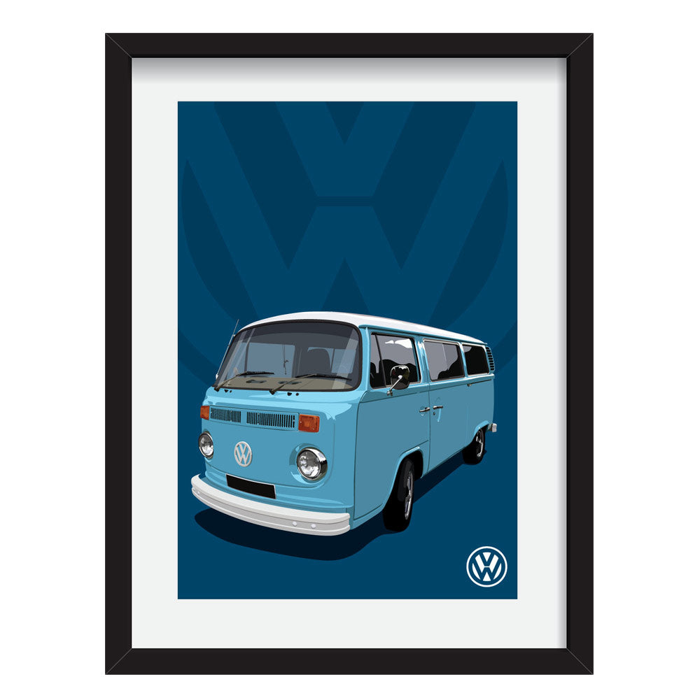 VW Camper Van customised artwork Giclée printed