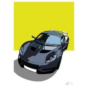 Lotus Elise S3/3.5 Cup (Front) customised artwork Giclée printed