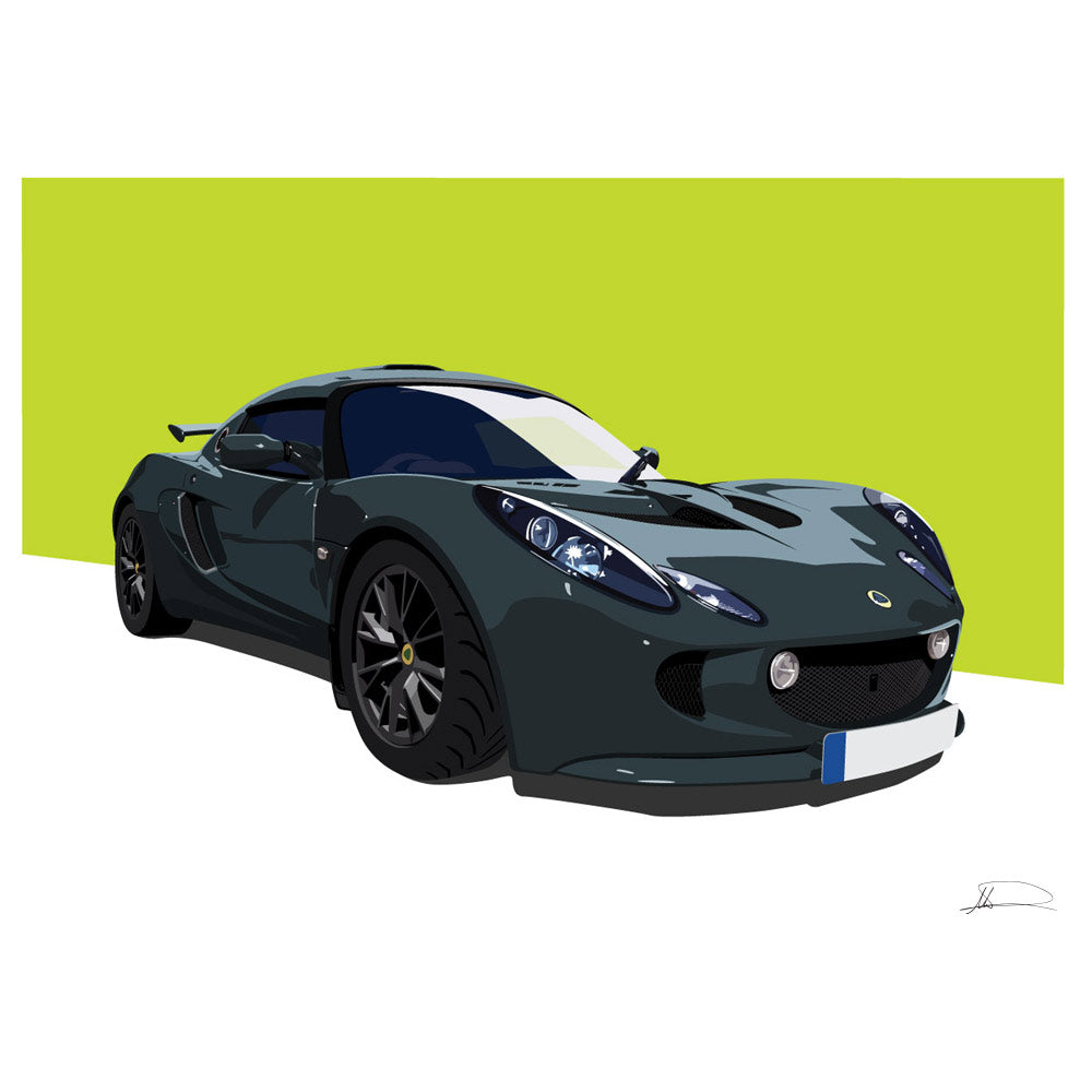 Lotus Exige S2 customised artwork Giclée printed