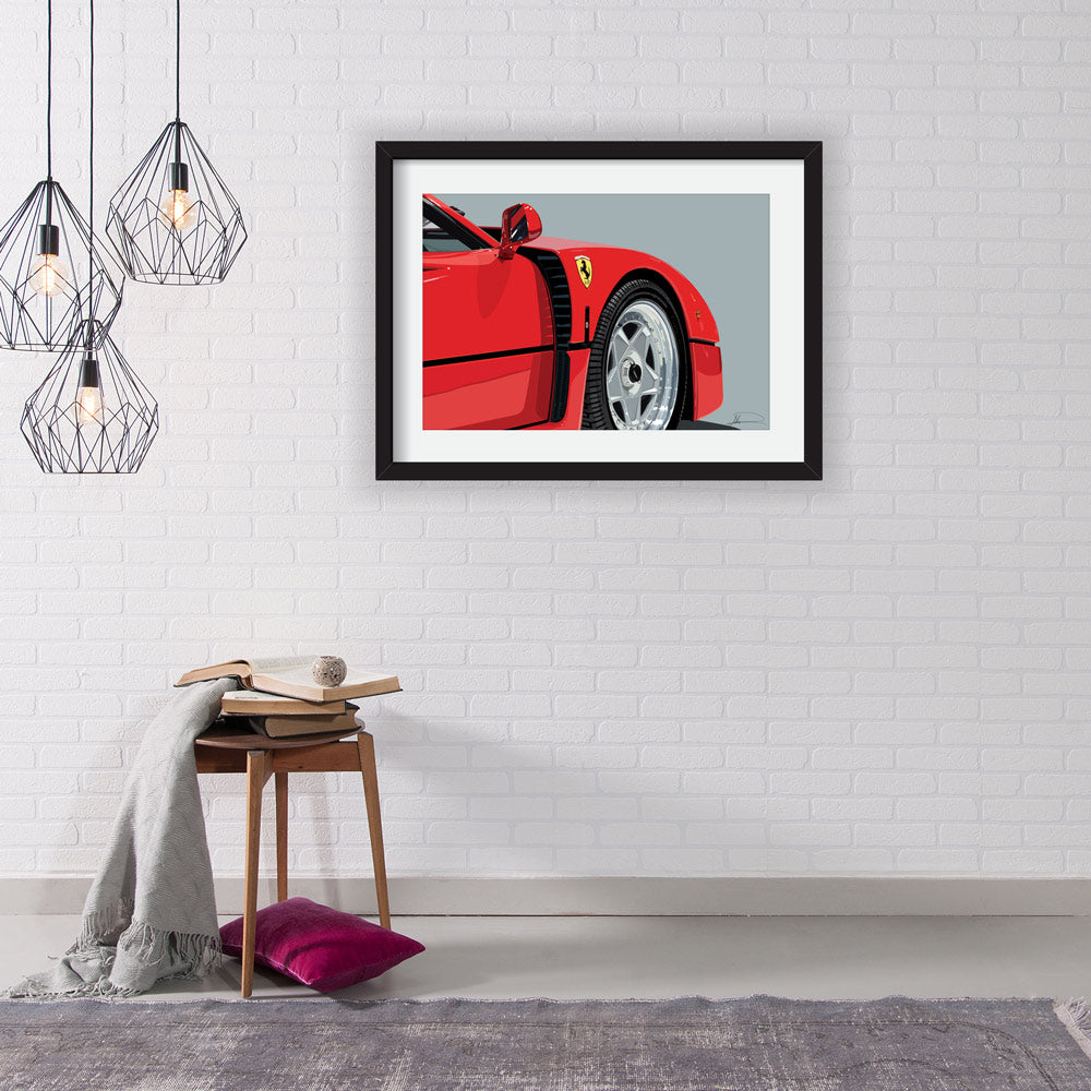 Ferrari F40 Limited Edition Artwork